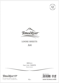 Tomoe River Paper Formaat A4 / 100 Vellen = 200 Pagina's, 52g/m2 Blanco Wit Papier