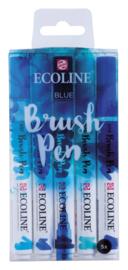 Ecoline Brushpen Set van 5 kleur Blauw