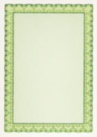 Diploma / Certificaat Papier  Schelp Smaragdgroen,   25 Vel Formaat A4  = 210 x 297 mm 115g/m²