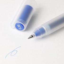 Muji Gel Inkt Handlettering,  Bullet Journaling Pen - Blauw - 0.38mm