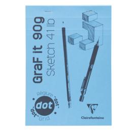 GraF it schetsblok geniet 80 vel = 160 pagina's  90g A5 (14,8x21cm) Dotted Papier