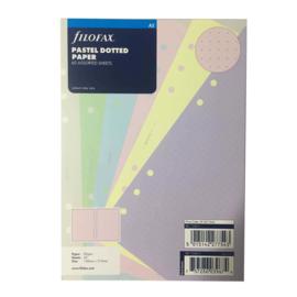 Filofax Clipbook & Organiser Navulling A5 – Pastel Dotted Gekleurd Papier
