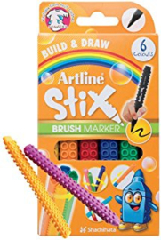 Artline Stix Brushpen 6 Pack