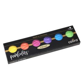 "Finetec / Coliro  6 Pearlcolor Set Waterverf Napjes M810 ""Vibrant"" Ø 30mm"