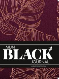 Mijn Black Dotted Journal Monstera  + 1 Sakura Gelly Roll Gelpen Wit