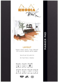 Rhodia Marker Pad A4+ Wit Blanco Papier  #116101C