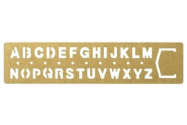 BRASS Template Bookmark Alphabet