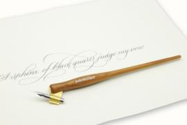 Handwritmic Oblique Teak  Wood Penhouder voor de Nikko G Nib