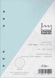 Aanvulling A5  voor o.a. Succes, Filofax agenda's /planners 50 vel, 120gr Dotted Licht Blauw Papier