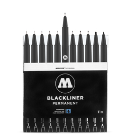 MOLOTOW™ BLACKLINER PERMANENT Complete Set van 11