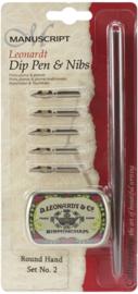 Manuscript Leonardt Dip Pen & Nibs  Set - MDP2036