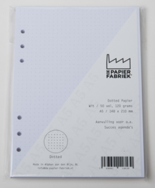 Aanvulling A5  voor o.a. Succes, Filofax agenda's /planners 50 vel, 116,g/m² Dotted A5 Wit  Papier