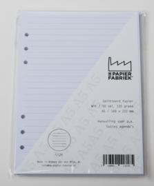 Aanvulling A5 voor o.a. Succes, Filofax agenda's /planners 50 vel,116 g/m² Gelinieerd  (Breed) A5 Wit Papier