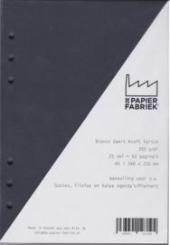 Aanvulling A5 voor o.a. Succes, Filofax en Kalpa Agenda's /Planners 25 vel = 50 pagina's A5 Formaat Kraft Zwart 300g/m² 6 gaats karton