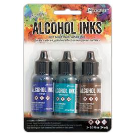 Tim Holtz Alcohol 14ml  ink x 3 Mariner
