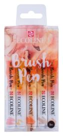 Ecoline Brushpen Set van 5 kleur Beige/Pink