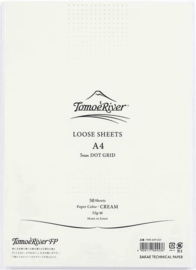 Tomoe River Paper A4 / 50 Vel = 100 Pagina's, 52g/m2 Dotted Cremè Papier