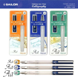 Sailor Hi-Ace Neo Clear Kalligrafie Pen 1.,  verpakt in een Zipprbag