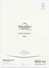Tomoe River Paper Formaat A4 / 50 Vellen = 100 Pagina's, 68g/m2 Blanco Crème Papier