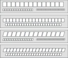 Set van 4 Letter Writing Guides voor het  Oefenen van Schuin en Staande Letters # SLP 80002/3/4/5
