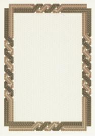 Diploma / Certificaat Papier  Twist Bruin - Beige,   25 Vel Formaat A4  = 210 x 297 mm 115g/m²