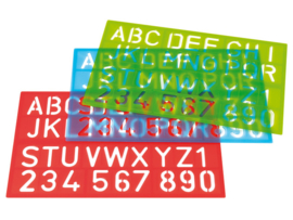 Sjablonen Westcott Letters en Cijfers  assortie kleuren
