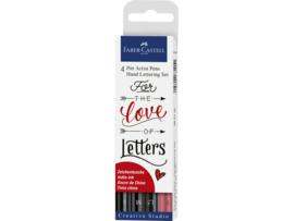 Castell Pitt Artist Pen Handlettering 4-delig etui zwart