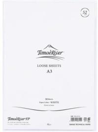 Tomoe River Paper Formaat A3 / 50 Vellen = 100 Pagina's, 52g/m2 Blanco Wit Papier