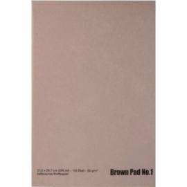 Brown Pad Lichtbruin Kaftpapier A4