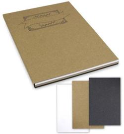A4 Oefenblok Handlettering Wit/recyling Bruin en Zwart