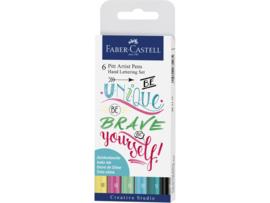 Faber Castell Pitt Artist Pen Handlettering 6-delig etui