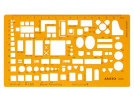 Architecten Meubelsjabloon Aristo schaal 1:100 # 5064
