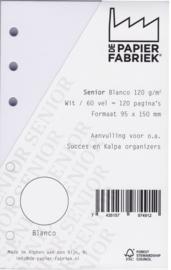 Senior Wit   Aanvulling Notitiepapier Blanco 60 vel = 120 pagina's