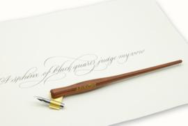 Handwritmic Oblique  Rose Wood Penhouder voor de Nikko G Nib
