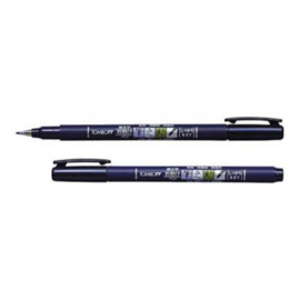 Tombow Fudenosuke Brush Pen - Hard - Zwart