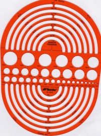 Circle, Radius Master Metric  Architect Sjabloon SLP 10315