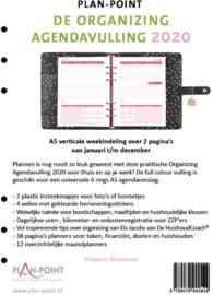 De Organizing Agendavulling 2020 + 50 vel (100 pagina's) - Dotted - Wit - 120 g/m² Papier A5 Formaat