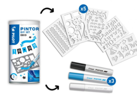 Pilot Pintor - Set DIY Deco -  Inclusief 3 Markers -  Medium Tip