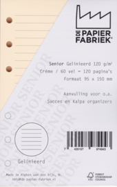 Senior Cremè  Aanvulling Notitiepapier Gelinieerd 60 vel = 120 pagina's