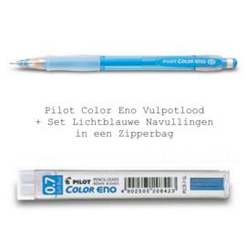 Pilot Color Eno Vulpotlood Lichtblauw – 0.7mm + Set Navullingen in een Zipperbag