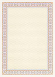 Diploma / Certificaat Papier  Spiraal Oranje,   25 Vel Formaat A4  = 210 x 297 mm 115g/m²