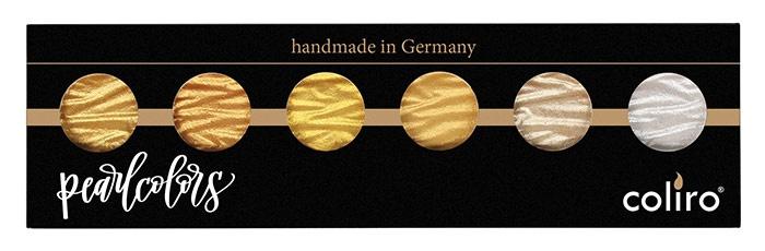 """Finetec / Coliro 6 Pearlcolors  Set """"Gold & Silver"""""""