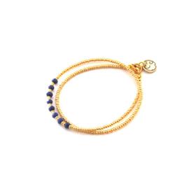 Armband Miyuki evening bleu Gold