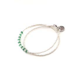 Armband Miyuki Palm green Silver