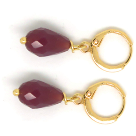 Soft Red Drops Gold- Celebrate Life Oorbellen Mini