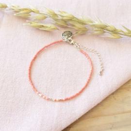 Morsecode armbandje Love Coral