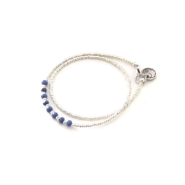 Armband Miyuki evening bleu Silver
