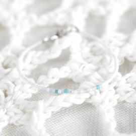 Eigen Tekst Morsecode - Pearly White
