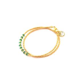 Armband Miyuki Palm green Gold