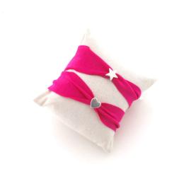 Kinder armband Ibiza fel roze